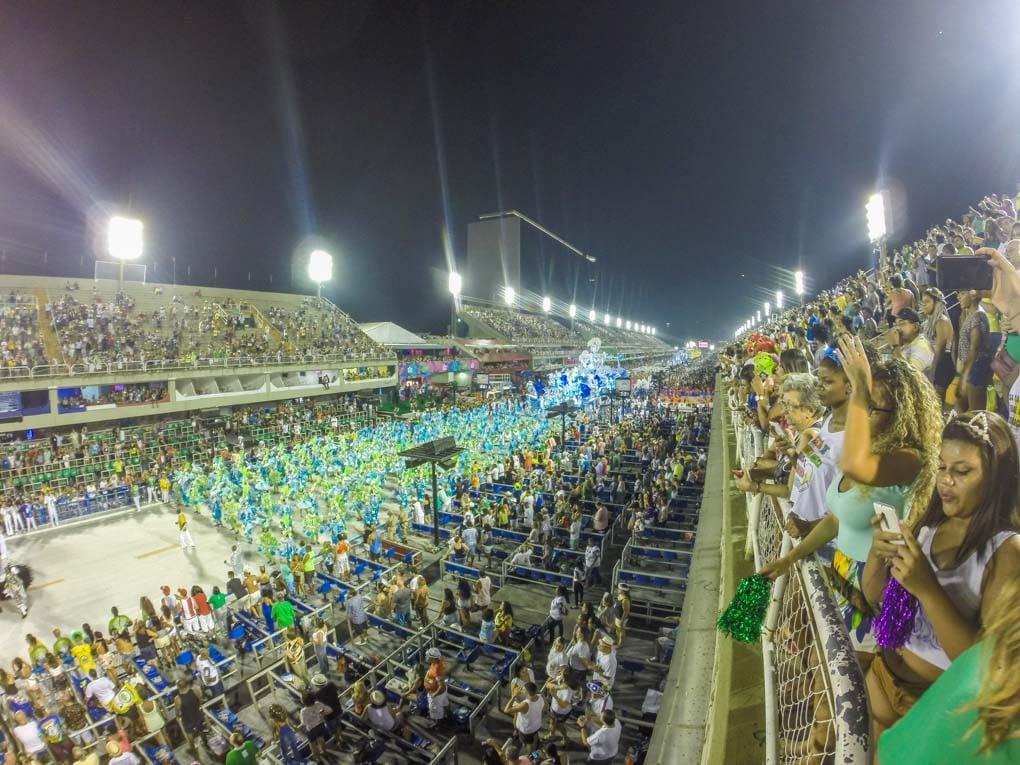 The Sambadrome in Rio de Janeiro, Brazil