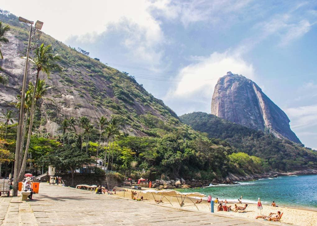 Red Beach in Rio de Janeiro