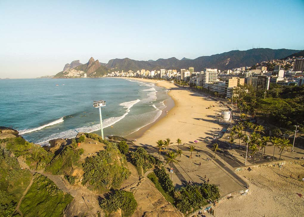 The views from Arpoador rock in Rio