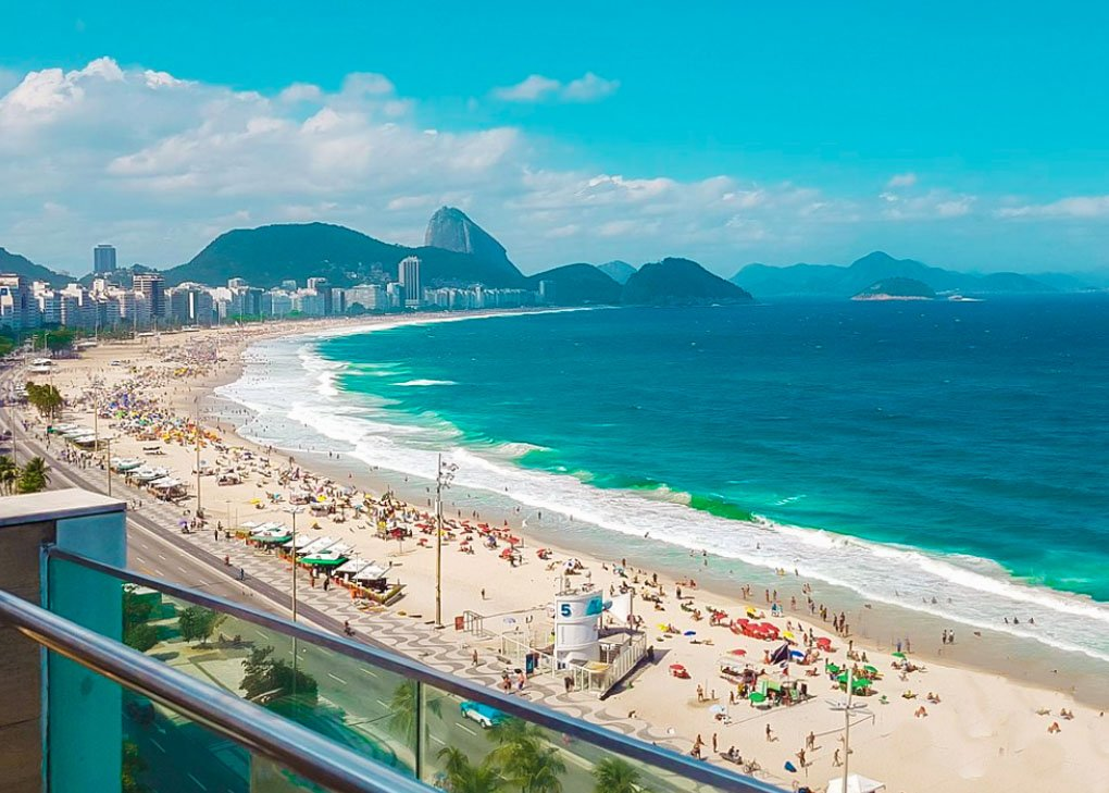 Copacabana Beach, Rio on a hot sunny day
