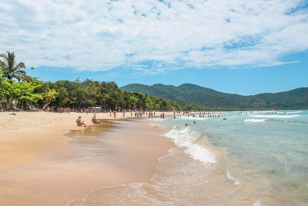 Lopes Mendes Beach on Ilha Grande, Brazil