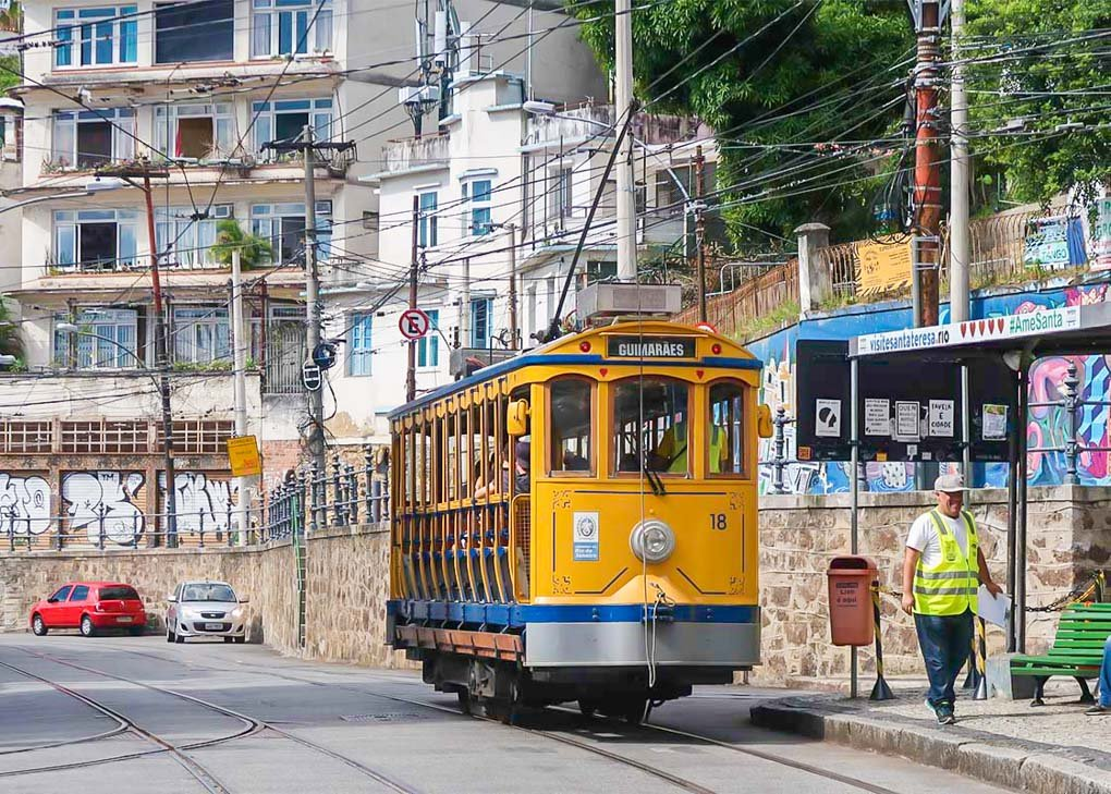The historic tram in Santa Teresa in Rio!
