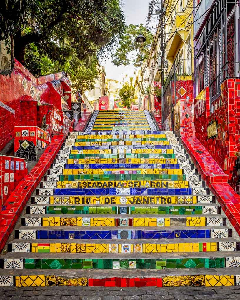 The Selaron Steps in Rio de Janeiro, Brazil