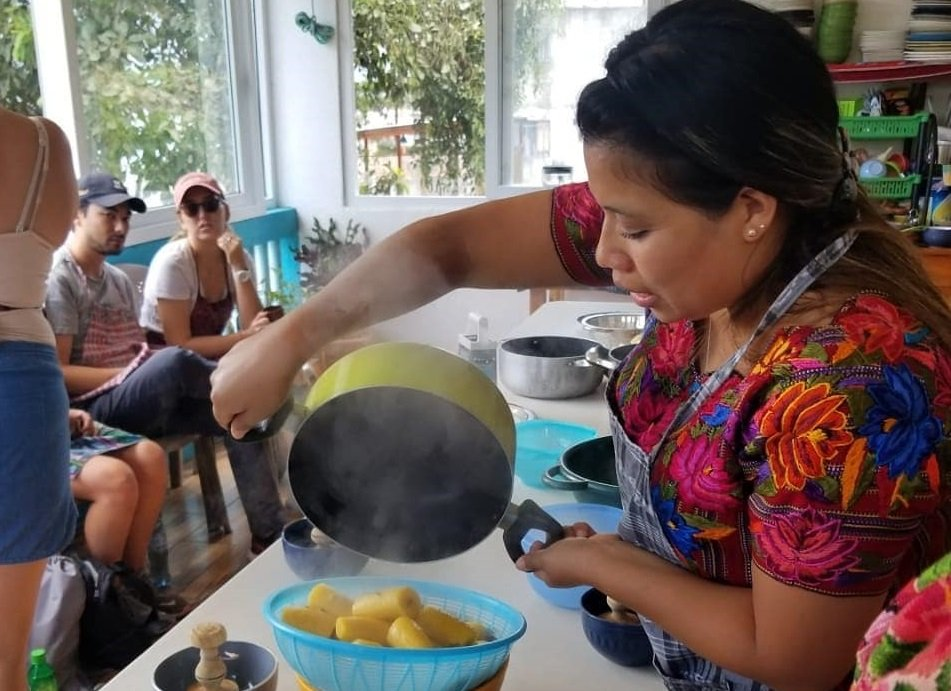 cooking class at mayan kitchen