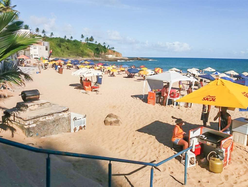 Buracao beach near salvador bahia brazil