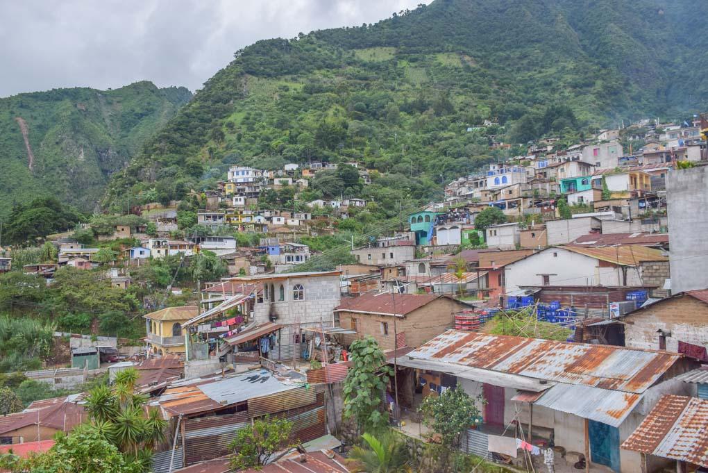 San antonio palopo village on Lake Atitlan, Guatemala