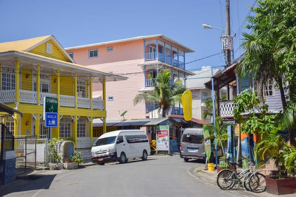A quiet street in Bocas del Toro town