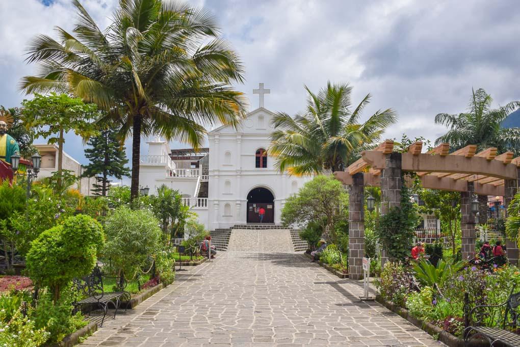 the church in San Pedro on Lake Atitlan