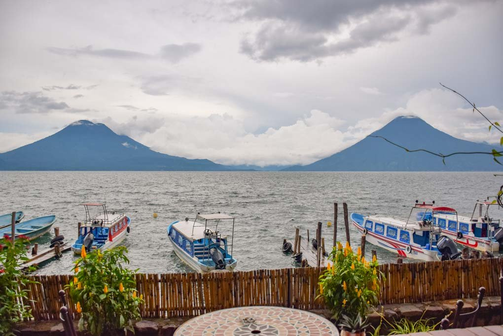 view from the hotel la laguna in Santa Cruz on Lake Atitlan