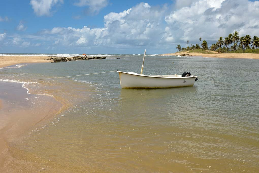 The beautiful beach on the Coast of Sauipe only 100 km's from Salvador.