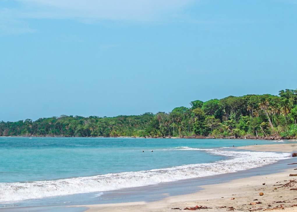 Playa Blanca ona  sunny day in cahuita NP