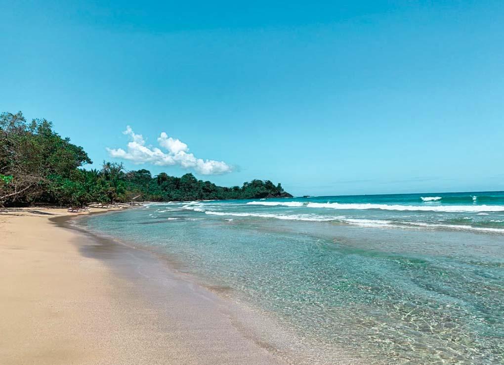 Red Frgo Beach on a sunny day on Bocas del Toro, Panama