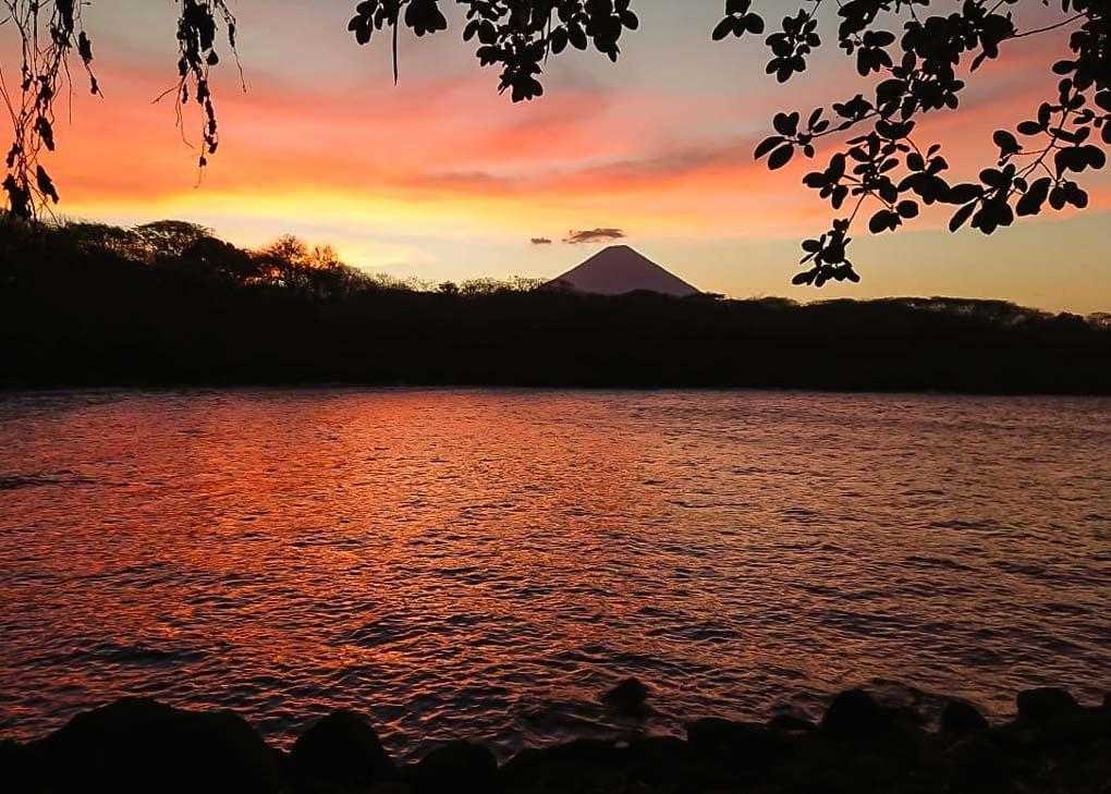 Sunset at El Pital Hostel, Ometepe