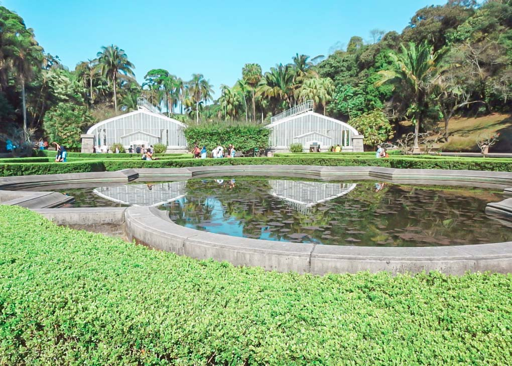 Green houses at the Sao Paulo Botanical Garden