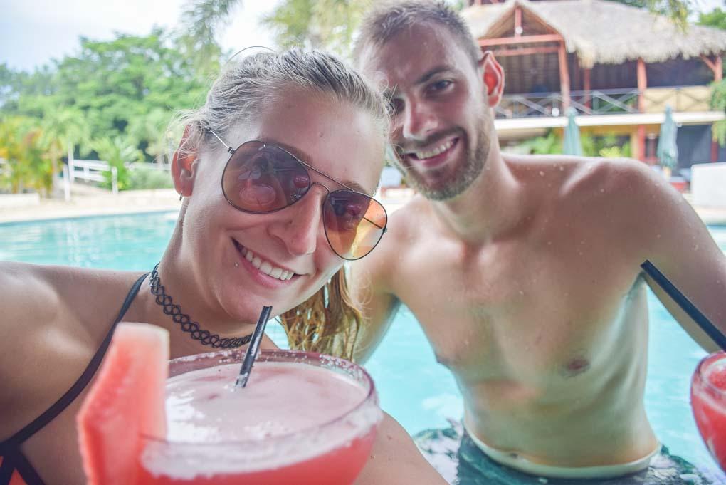 Dan and Bailey take a selfie in San Juan del Sur, Nicaragua