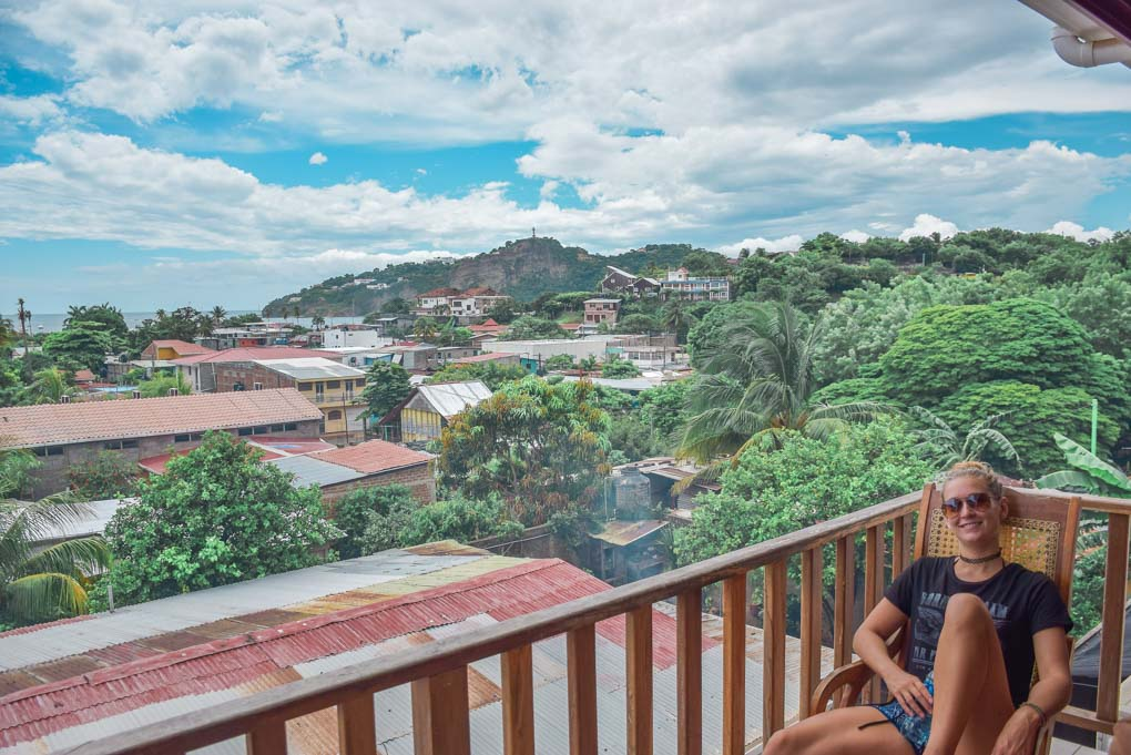 Enjoying the peace and quiet on the outskirts of San Juan del Sur town