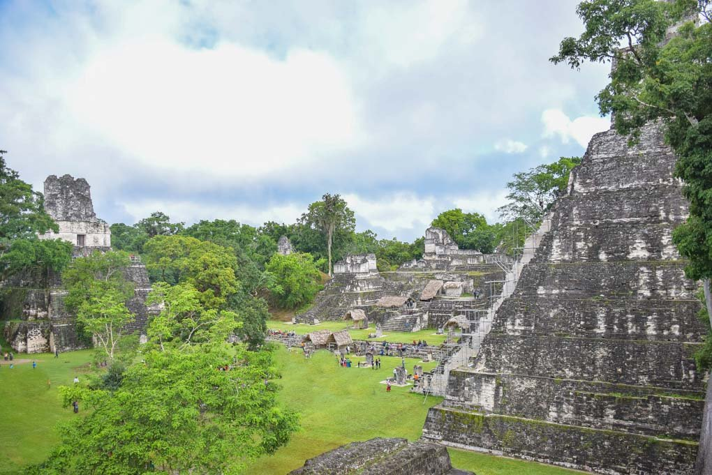 The main plaza at Tikal in Guatemala