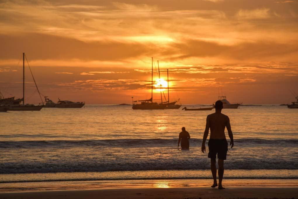 sunset at the beach in San Juan del Sur