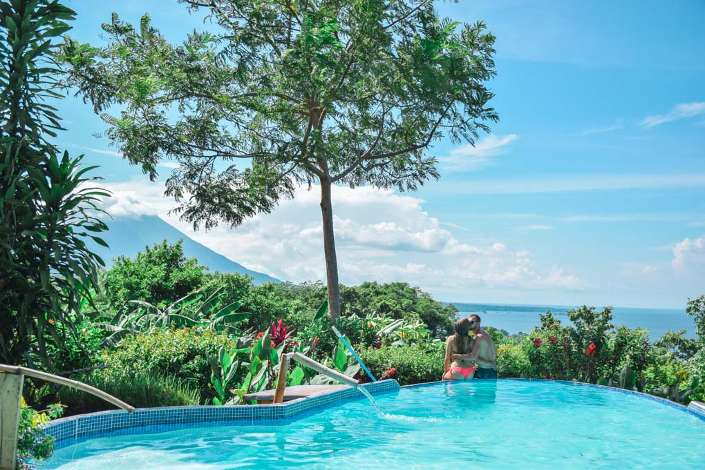 The infinity pool at Totoco Eco Lodge