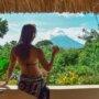 Bailey relaxing at Totoco Eco lodge on Isla de Ometepe, Nicaragua