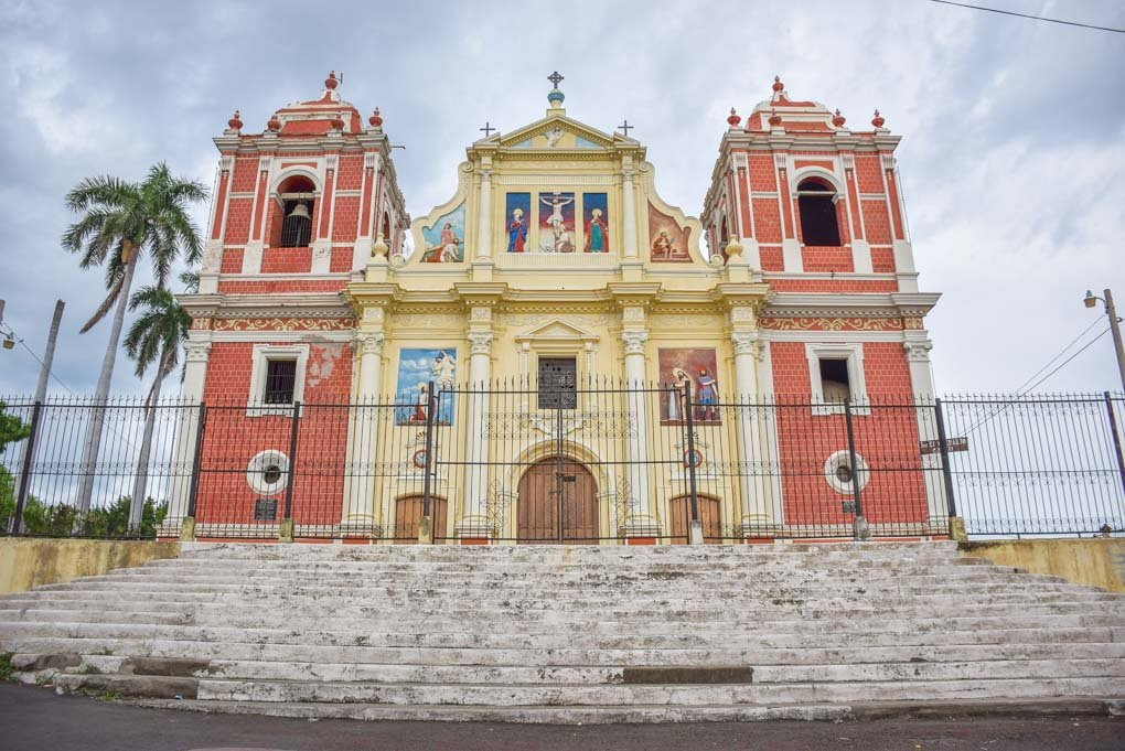 cathedral in central Leon, Nicaragua