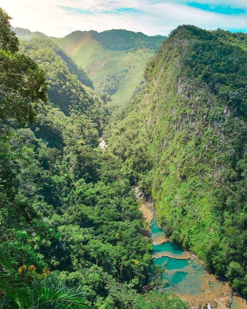 The mirador at Semuc Champey, Guatemala