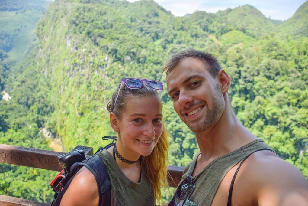 Bailey and Daniel take a selfie at Semuc Champey