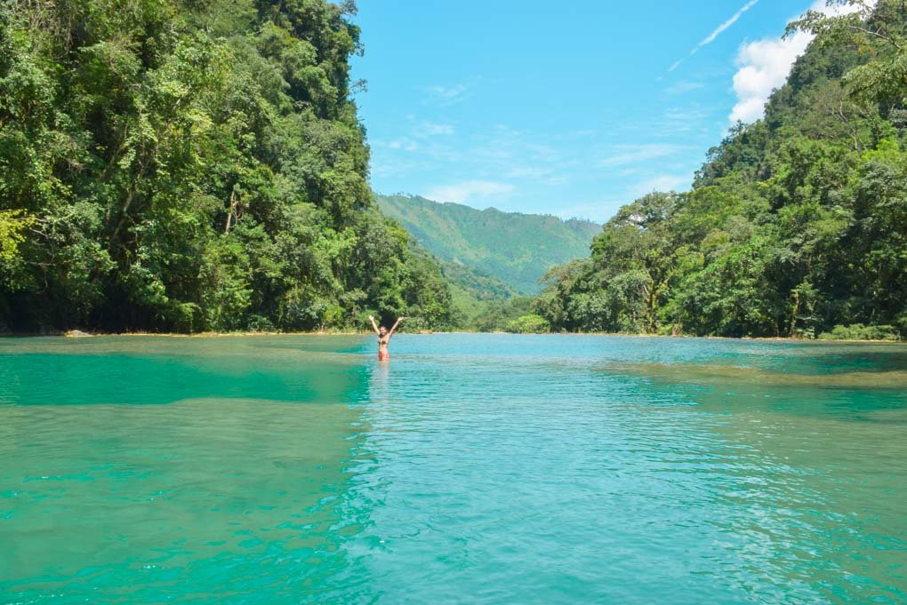 A view of one of the infinity pools at Semuc Champey, Guatemala