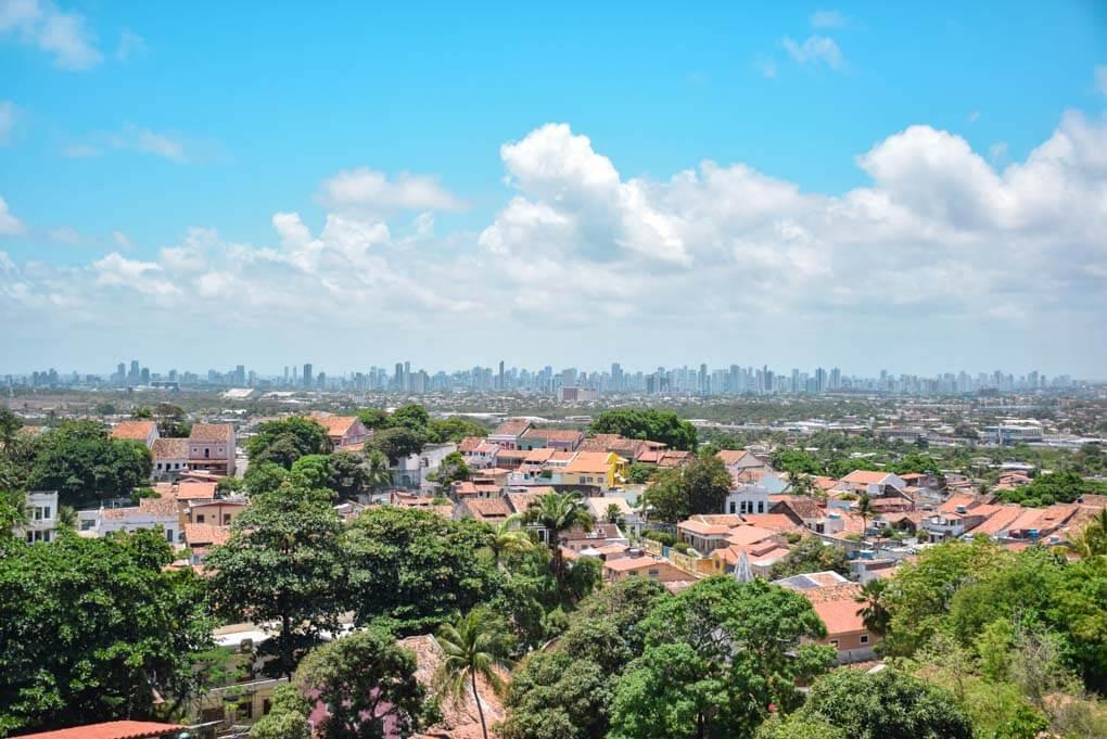 Alto Se viewpoint in Olinda, Brazil near Recife