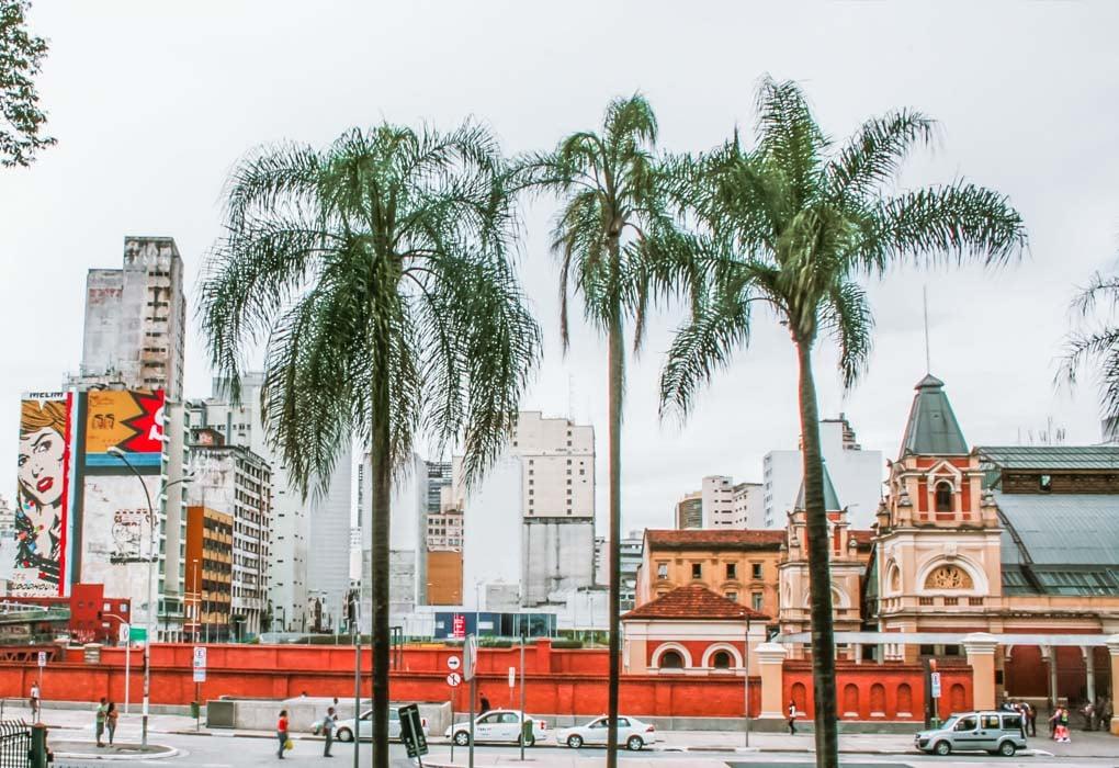 A colorful street in Sao Paulo, Brazil