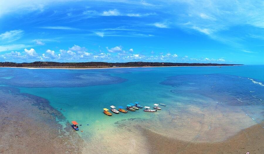 Aerial View Of Natural Pools Of Maragogi, Alagoas, Brazil. Fanta