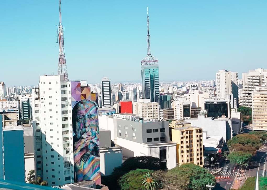 The view from Mirante Sesc, Sao Paulo, Brazil
