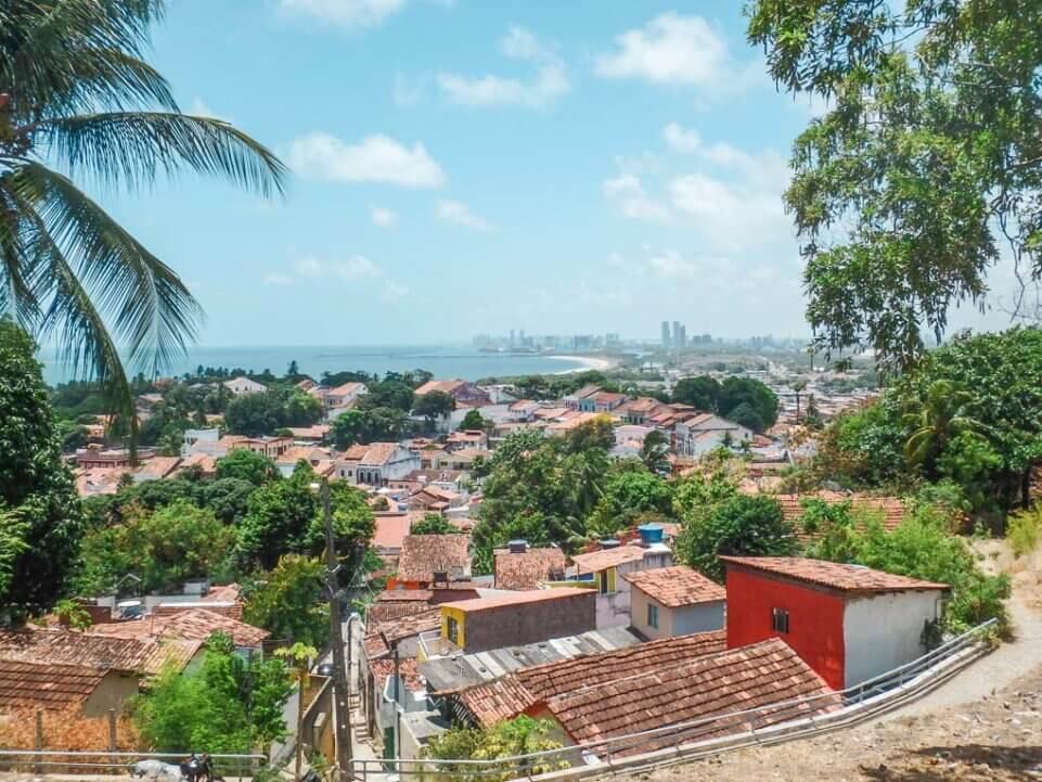 view of Olinda and recife, brazil