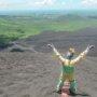 top of Cerro Negro volcano near Leon, Nicaragua