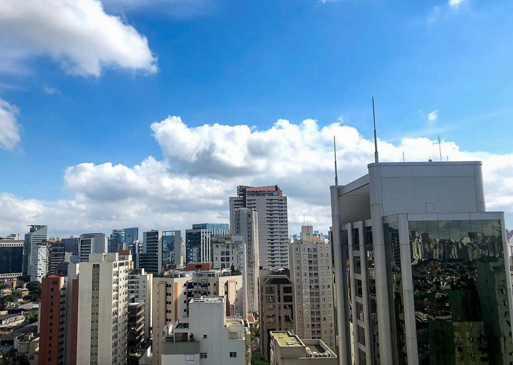 The skyline in Sao Paulo, Brazil