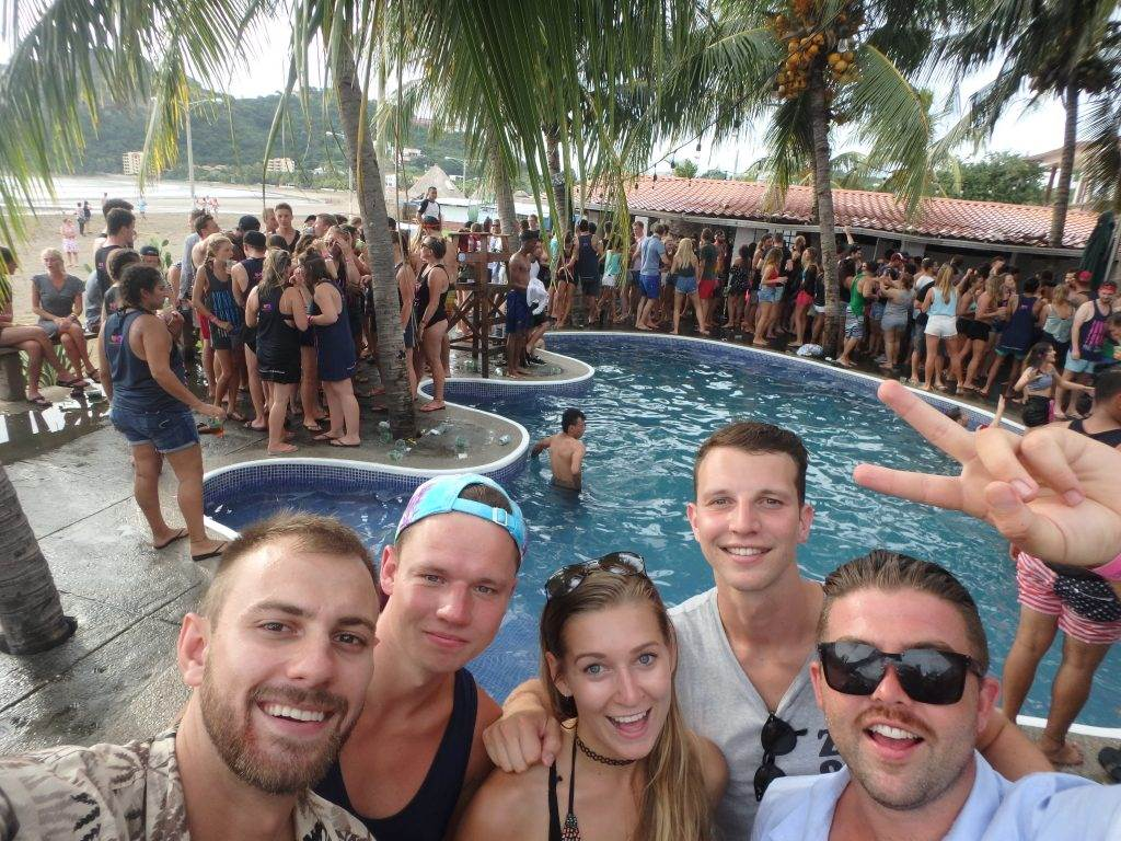 Sunday Funday pool party in San Juan del Sur, Nicaragua