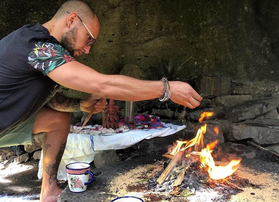 cocao ceremony in san marcos, lake atitlan