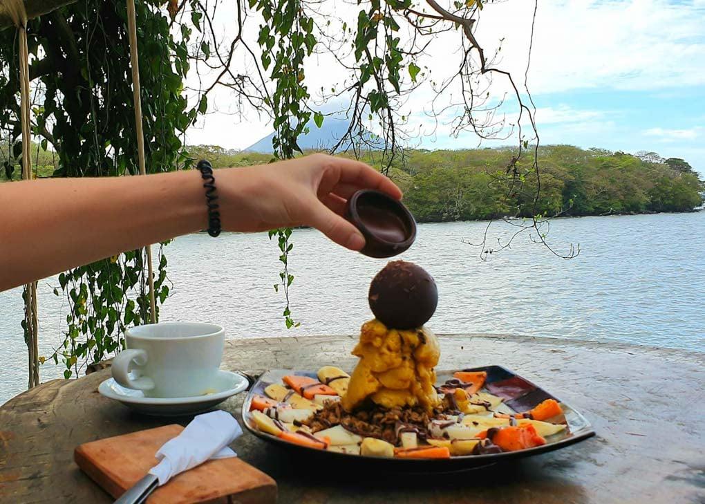 Food at El Pital, Ometepe