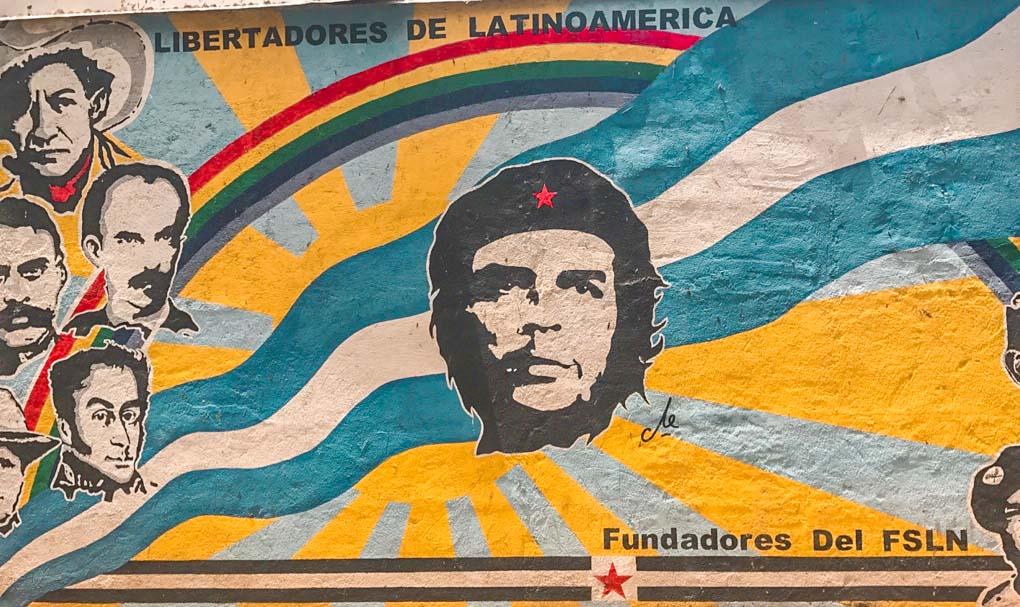 graffiti mural in Leon, Nicaragua