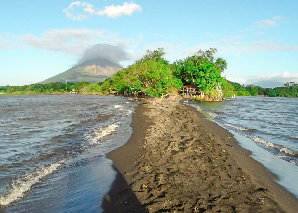 Punta Jesus Maria Beach during the day on Ometepe, Nicaragua