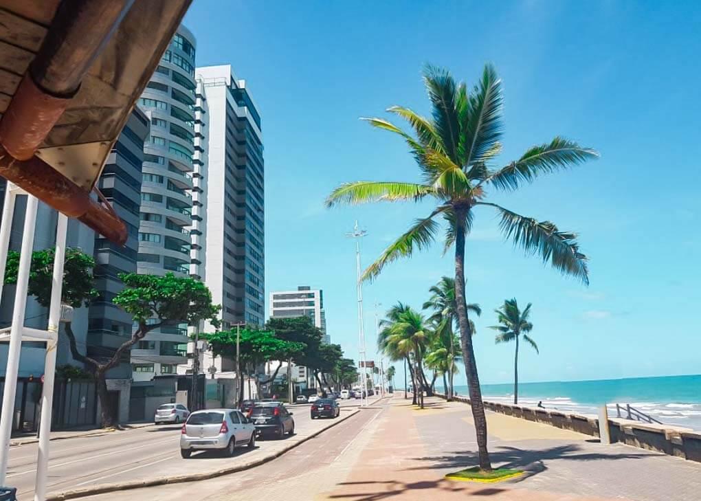Boa Viagem boardwalk in Recife, Brazil