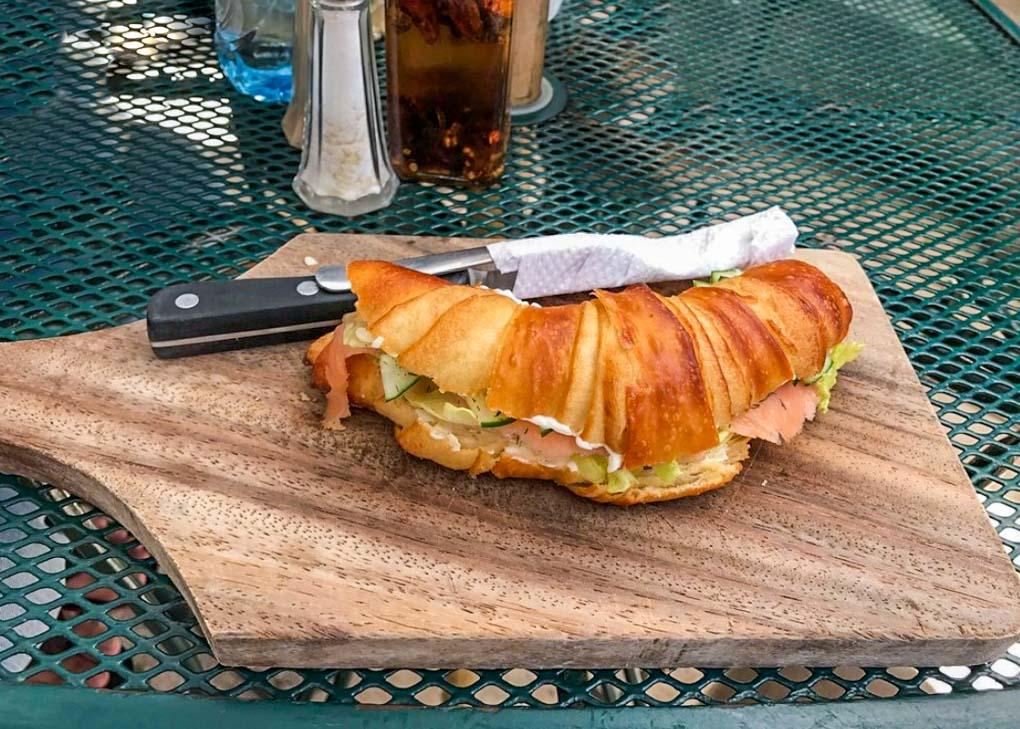 croissant at Pan y paz panderia in Leon, Nicaragua