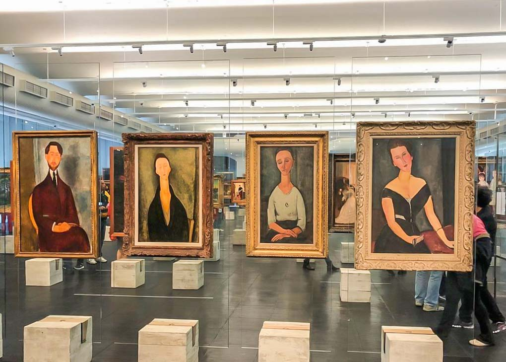Art in the São Paulo Art Museum in Sao Paulo, Brazil