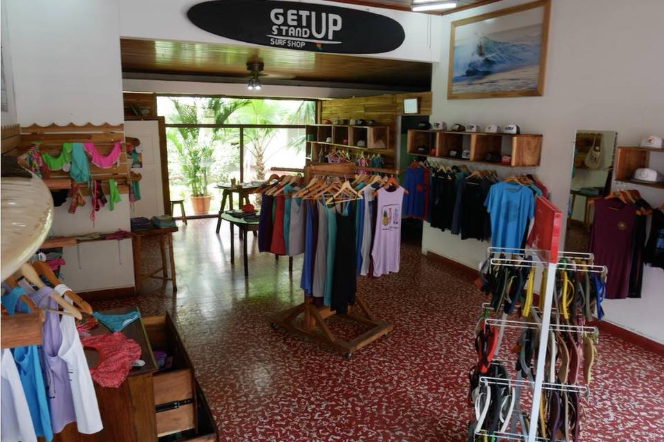 get up stand up surf shop in Leon, Nicaragua