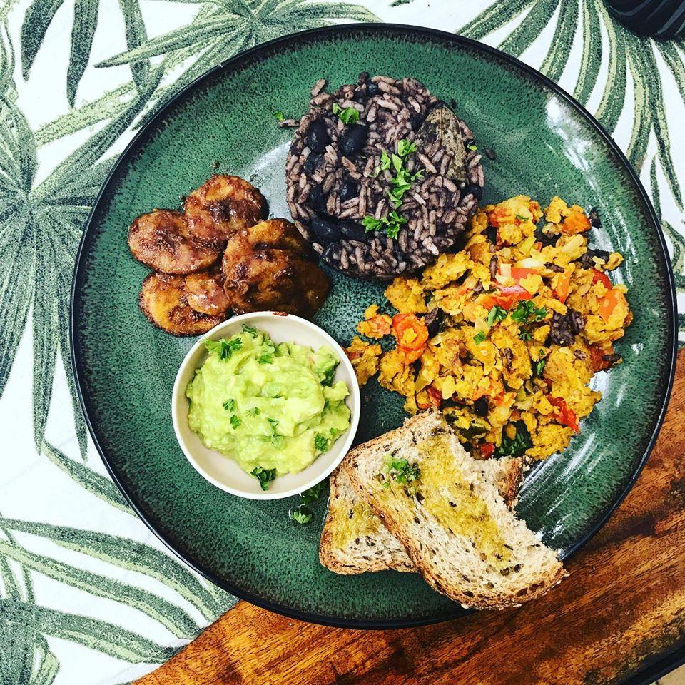 dish at coco calala vegan restaurant in Leon. Nicaragua