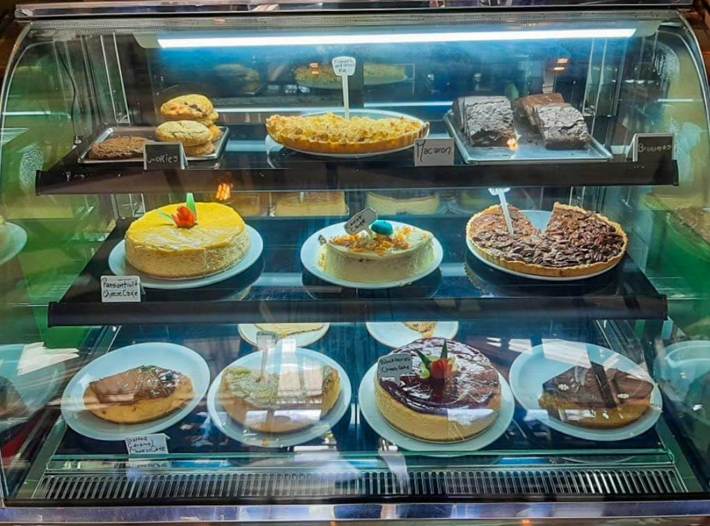 The cheesecakes at Orchid Coffee Shop in Santa Elena Town, Monteverde
