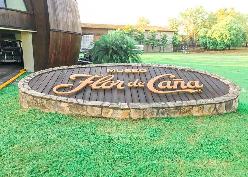 Flor de Cana rum factory entrance in Leon, Nicaragua