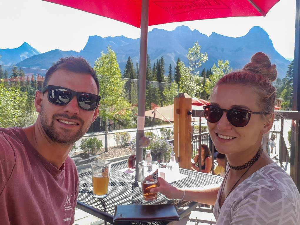 Drinks at the Drake in Canmore!
