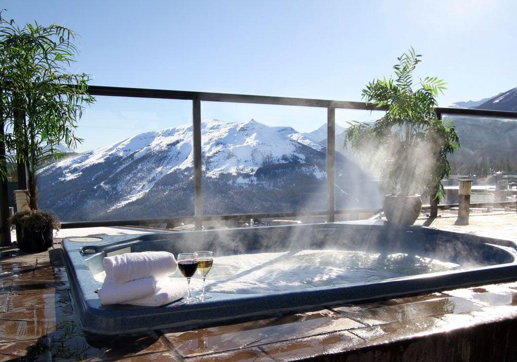 The spa at the Whistler Inn in jasper