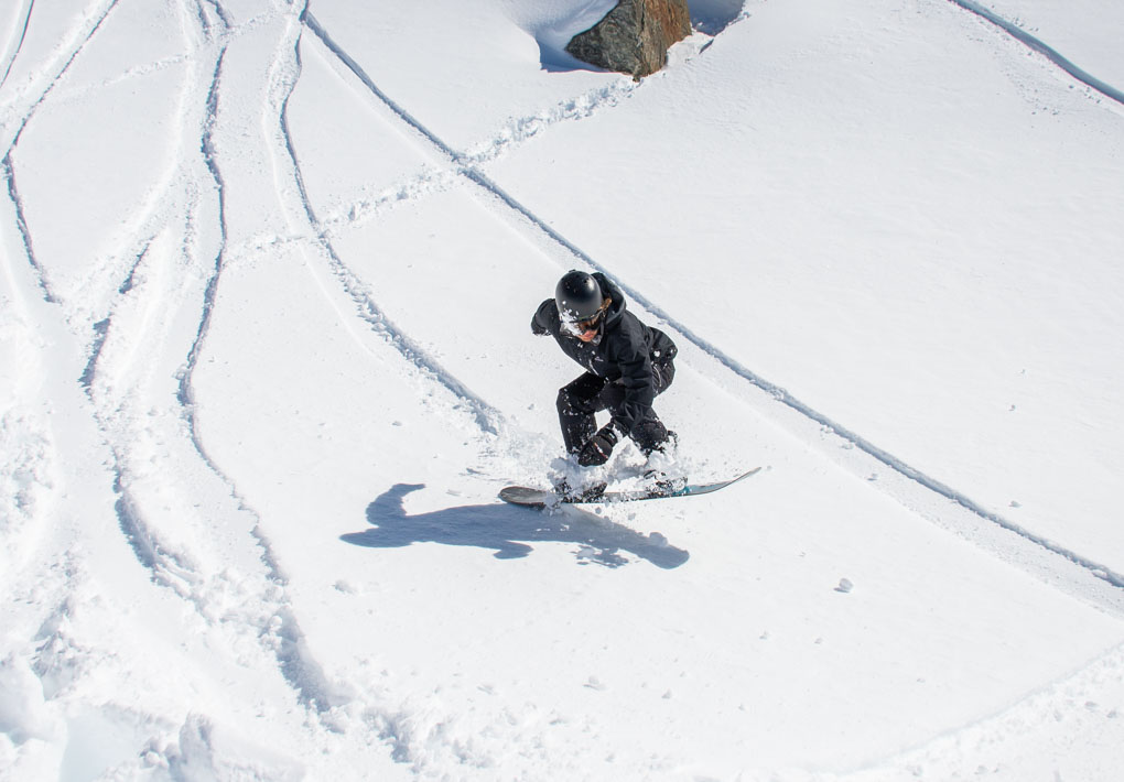 Snowboarding in Jasper